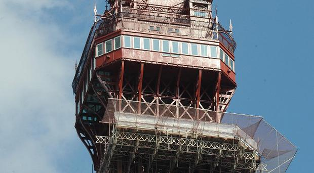 The top of Blackpool Tower, which has reopened after refurbishment