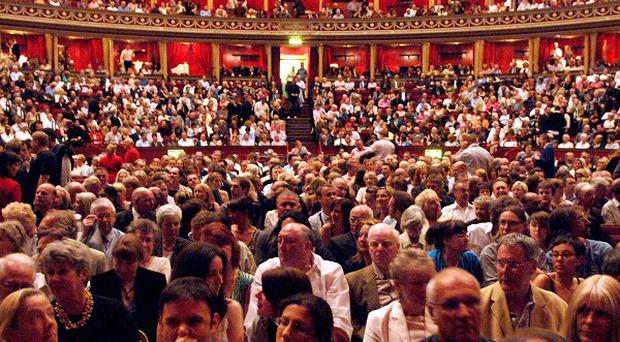 Protesters have disrupted a Proms performance by the Israel Philharmonic Orchestra at the Royal Albert Hall
