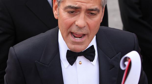 George Clooney is at the Venice Film Festival
