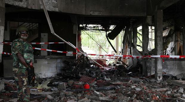 A suicide car bomb destroyed the United Nation's office in Abuja, Nigeria (AP)