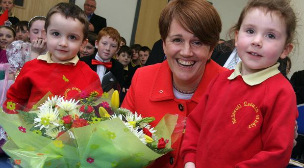 Former Sinn Fein Education Minister Caitriona Ruane when she opened an Irish language school in Londonderry