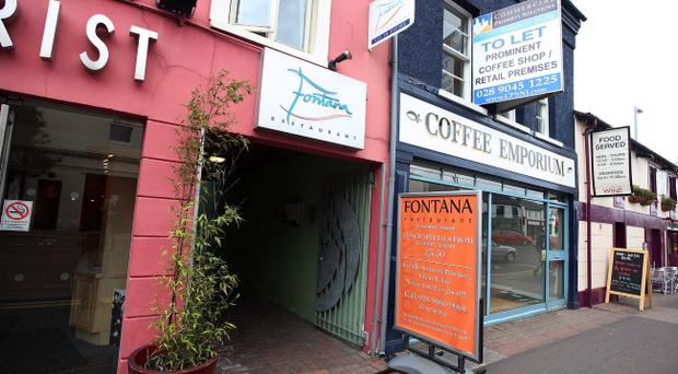 The UK Border Agency arrested the two men at the Co Down restaurant on Thursday night