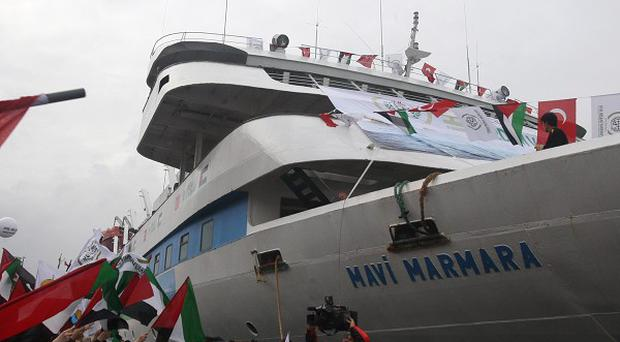The Mavi Marmara ship was the lead boat of a flotilla headed to Gaza which was stormed by Israeli naval commandos in May last year (AP)