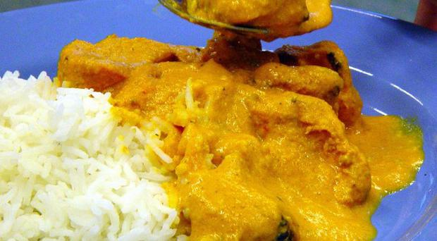 An average portion of chicken tikka masala and pilau rice contains high amounts of fat and salt, a study has found