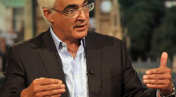 Former chancellor Alistair Darling said there 'was a disagreement at the very top' over the economic crisis (Jeff Overs/BBC/PA)