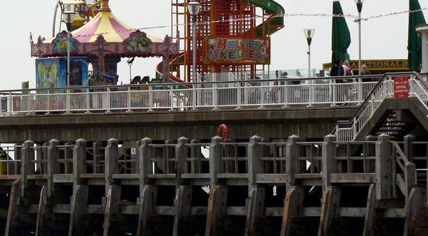 A charity swim from Bournemouth pier sparked a search operation when nine swimmers were feared missing