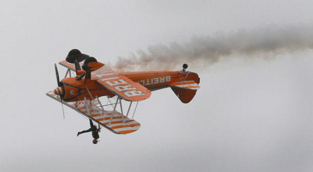 The Breitling Wingwalkers in action at the NI International Airshow in Portrush