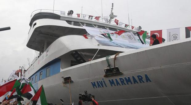 The Mavi Marmara lead the aid flotilla stormed by Israeli naval commandos in 2010 (AP)