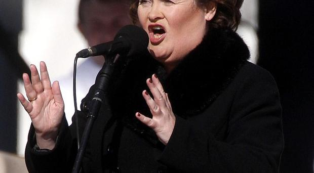 Susan Boyle admitted she was nervous before the performance