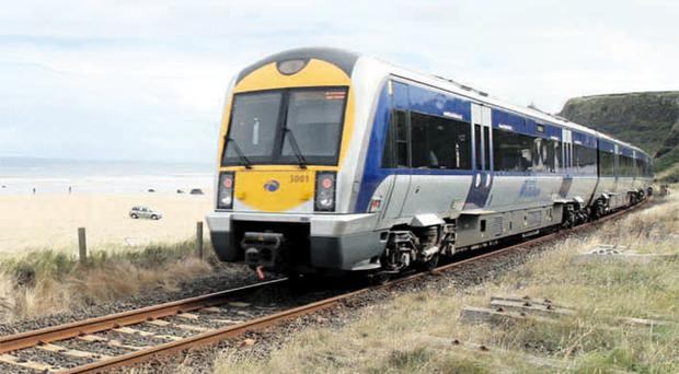 Train on the Londonderry to Belfast line