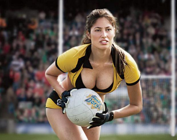 Hunky Dorys 2011 ad campaign uses scantily clad women playing GAA