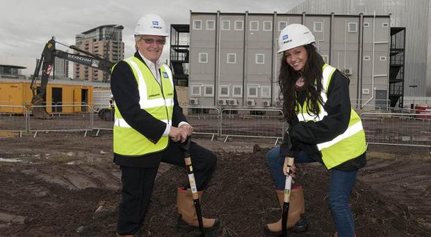 William Roache and Michelle Keegan helped mark the event in Salford