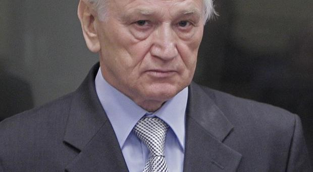 Momcilo Perisic, the former chief of staff of the Yugoslav army, who has been jailed for 27 years for aiding Bosnian Serbs who carried out atrocities(AP)