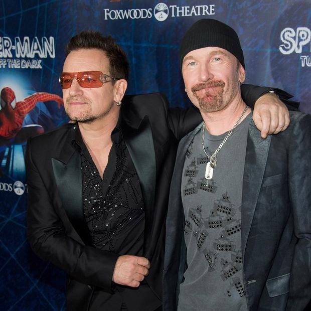 Bono, left, and The Edge
