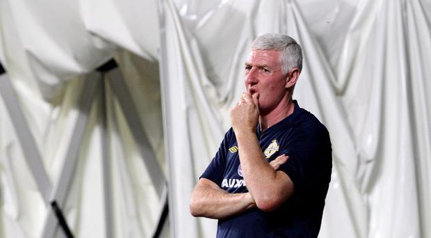 Northern Ireland manager Nigel Worthington watches his team lose 4-1 to Estonia at the A Le Coq Arena, Tallinn