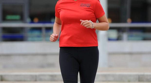 ©Press Eye Ltd Northern Ireland - 31st August 2011 Gillian Logan from Larne pictured at the Belfast Waterfront hall ahead of this years Run Her race where she will lead a team of ten runners from Hewlett Packard.Mandatory Credit - Picture by Stephen Hamilton/Presseye.com