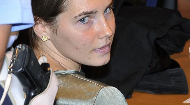 Amanda Knox at her appeal hearing against the conviction for murdering British student Meredith Kercher(AP)