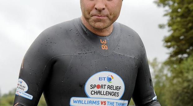 David Walliams has started to feel unwell on his charity swim