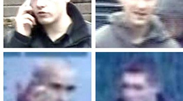 CCTV stills of people the police want to speak to in connection with serious disorders over the summer (PSNI/PA)