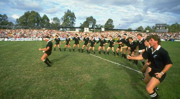 <b>THE FIRST OF MANY...</b><br /> Michael Jones' try for New Zealand against Italy in the inaugural match of the 1987 tournament will forever be remembered as the first try in a Rugby World Cup. Jones proved a star performer that year and also scored the first try of the first ever World Cup Final, helping the All Blacks to defeat France 29-9.