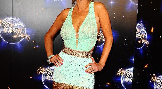 Alex Jones glammed up in a mini dress for the Strictly launch
