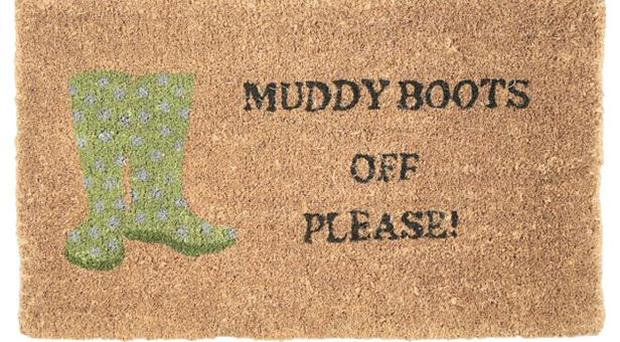 <b>1. Muddy Boots</b><br/> The leaves are starting to turn, the temperature is dropping: it's walking season again. Remind ramblers to shed their wellies with Laura Ashley's Muddy Boots Mat. <b>£20,</b> lauraashley.com