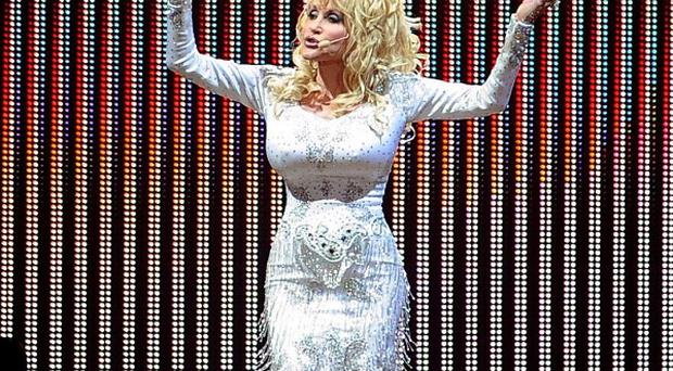 Dolly Parton joked with the crowd during her O2 gig