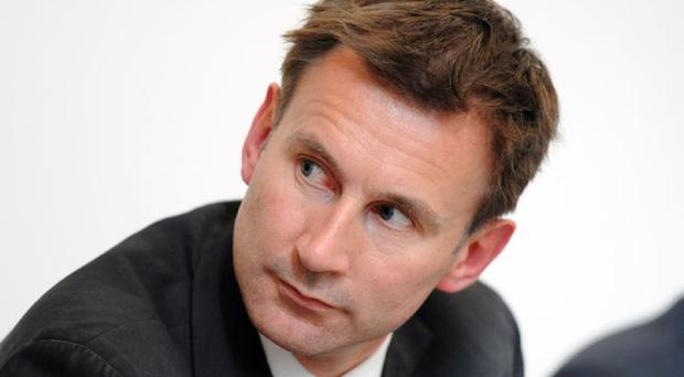 Jeremy Hunt at the local TV Summit held at the Ulster Hall in Belfast