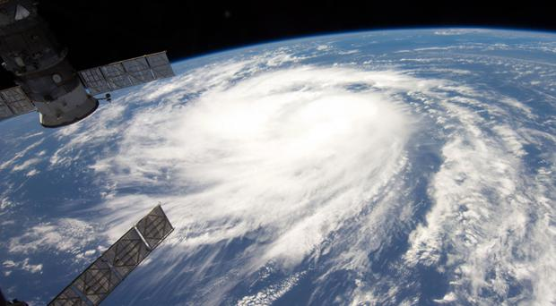 Hurricane Katia as seen from International Space Station