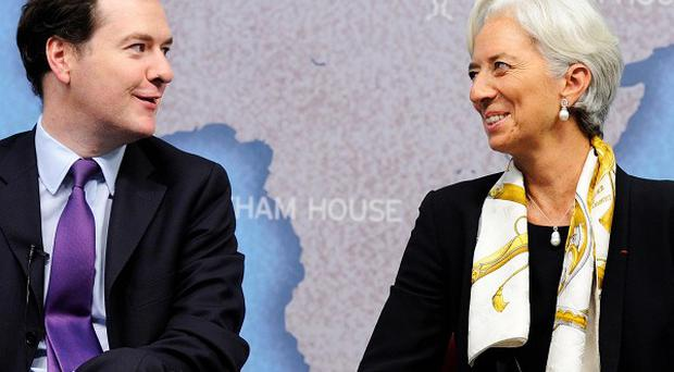 Chancellor George Osborne and International Monetary Fund (IMF) chief Christine Lagarde