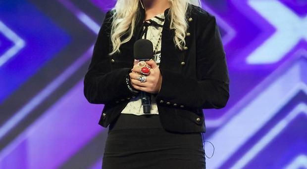 Amelia Lily performs during the auditions for this year's X Factor