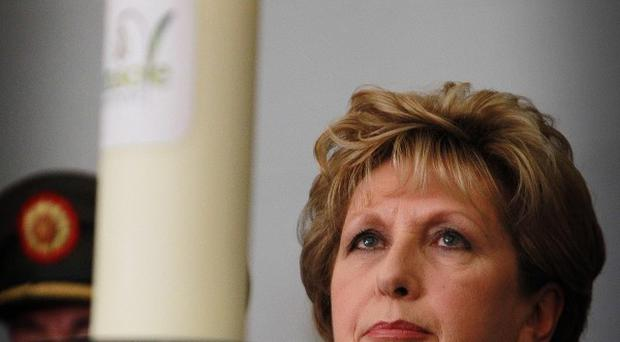 President Mary McAleese said communities have to act to try and reduce the suicide rate