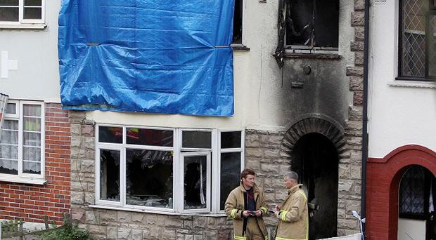 A mother and her baby son have been killed in an arson attack in Chatham, Kent