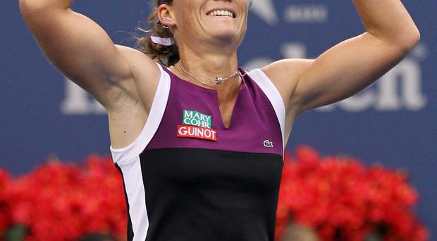 Samantha Stosur celebrates her US Open final victory over Serena Williams