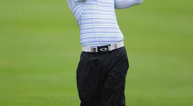 Rory McIlroy of Northern Ireland plays a shot during the final round of The KLM Open Golf at The Hillversumsche Golf Club on September 10, 2011 in Hilversum, Netherlands