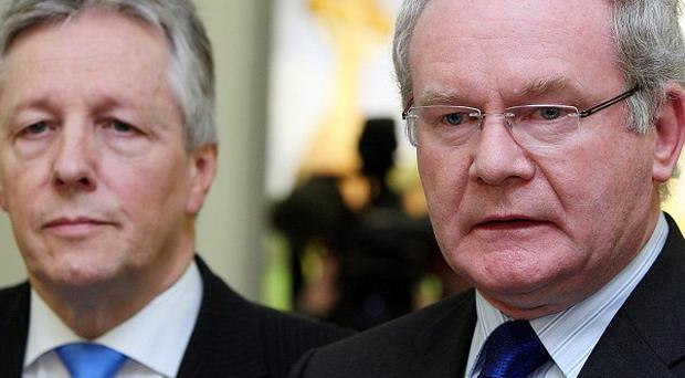 Martin McGuinness (right) and Peter Robinson