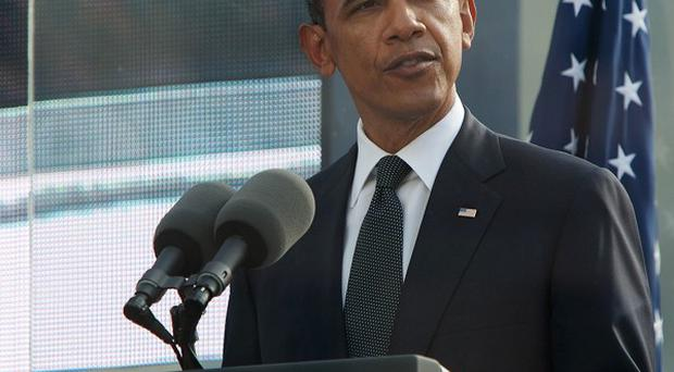 President Obama speaks at a ceremony to mark the 10th anniversary of the 9/11 terrorist attacks (AP)