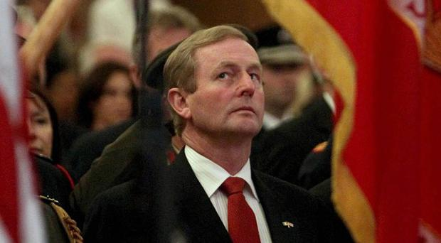 Taoiseach Enda Kenny attends a Ceremony of Peace and Reflection at the Royal Dublin Society