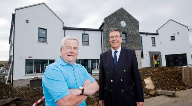 From left: Jim McCurdy, chair of Ballgally Community Development Association, and village champion Richard Long