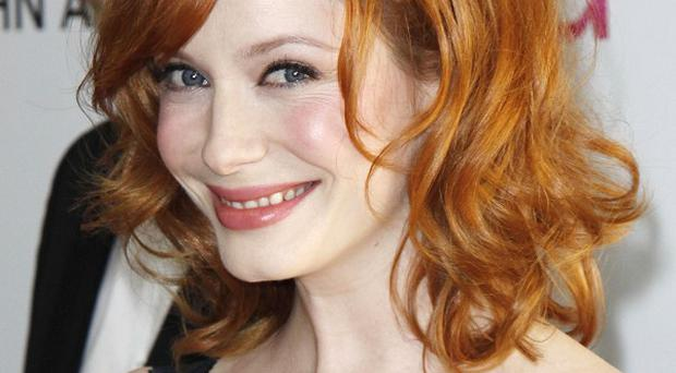 Christina Hendricks and her husband do their fair share of chores