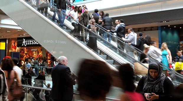 Shoppers enjoy the new Westfield Stratford City shopping centre in east London