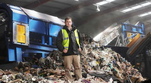 Brett Ross, the managing director of newly-launched RiverRidge Recycling, at the recycling centre