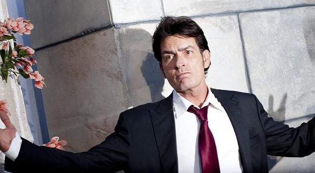 Charlie Sheen said life was a lot calmer for him now