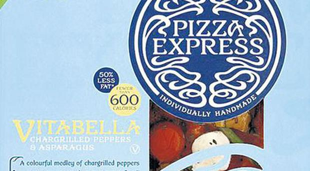 <b>(1) PIZZA EXPRESS LIGHTER VITABELLA</b><br/> Like pizza but not its often belt-busting calorie content? Pizza Express rides to the rescue with the thin-base Vitabella at half the calories of a regular pizza, eschewing spicy sausage and ham in favour of summer veg. <b>£4.00, sainsburys.co.uk</b>
