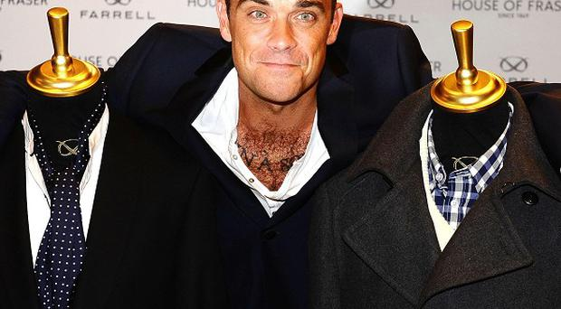 Robbie Williams has launched his own fashion line