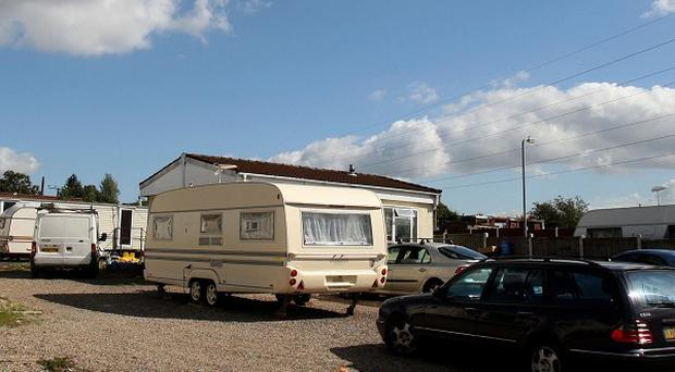 Dale Farm Travellers site in Cray's Hill, Basildon, Essex