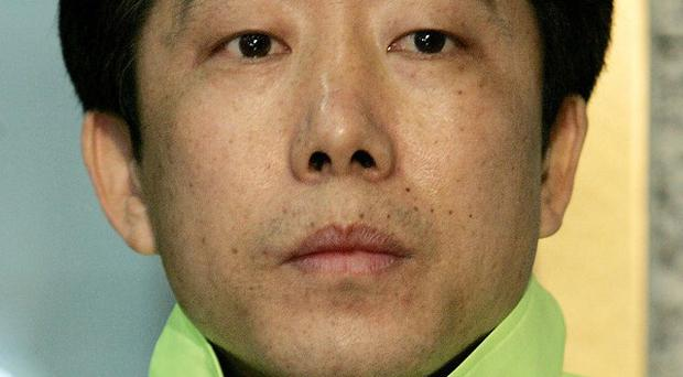 Park Sang-hak is a defector who leads a campaign to send anti-Pyongyang leaflets to North Korea (AP)
