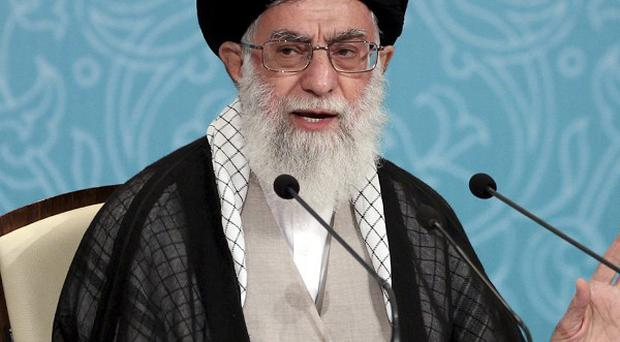 Iranian supreme leader Ayatollah Ali Khamenei warned Arab nations not to trust the west (AP)
