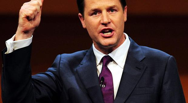 Nick Clegg insisted it would not be 'morally or economically right' for the 50p tax levy to go unless his conditions were met