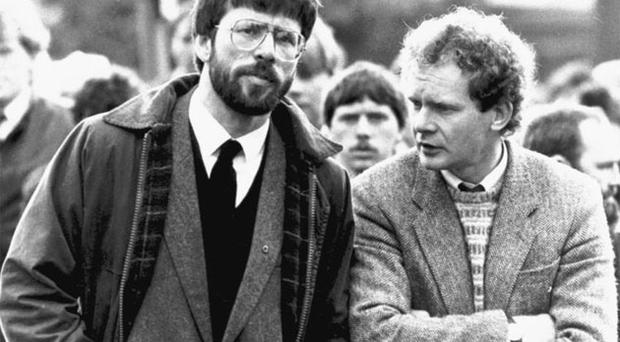 Martin McGuinness with Gerry Adams